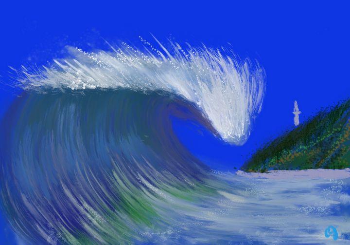 Lighthouse wave - ISurfLikeAGirl