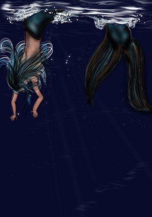 Diving mermaid - ISurfLikeAGirl
