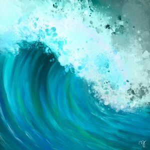 Teal wave - ISurfLikeAGirl
