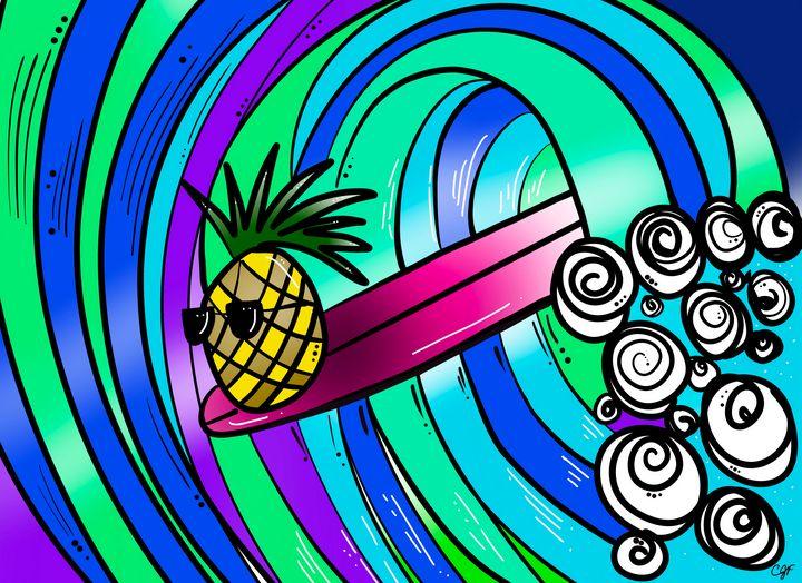 Surfing pineapple - ISurfLikeAGirl