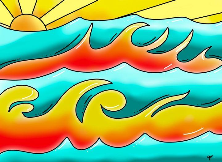 Fiery Waves - ISurfLikeAGirl