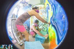 OkiLife spray painted mural