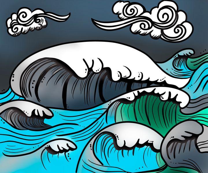 Stylized waves - ISurfLikeAGirl