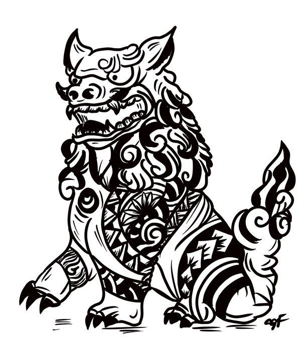 Tatted Shisa - ISurfLikeAGirl