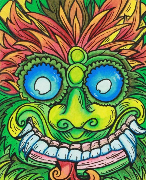 Bali mask - ISurfLikeAGirl