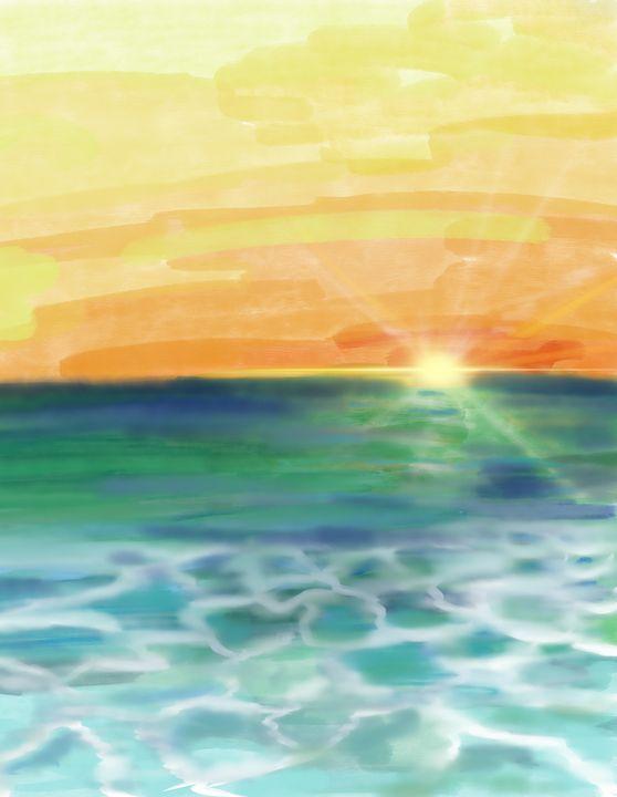 Sunabe sunset - ISurfLikeAGirl