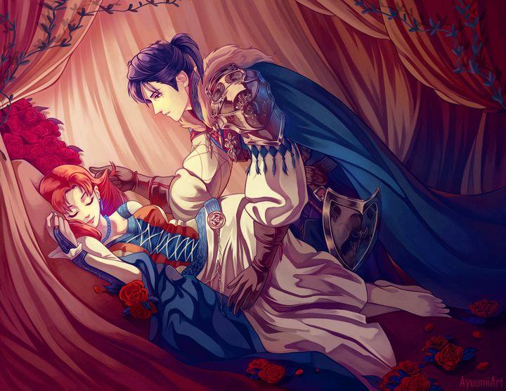Sleeping Beauty AU - Felix/Annette - Ayuunii Art