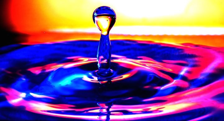 Colourful Water Drop - pooh120398