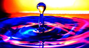 Colourful Water Drop