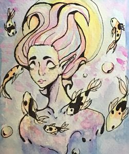 Water Woman Watercolor