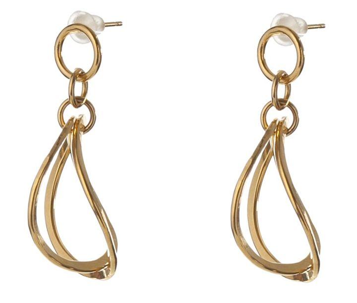 Gold plated 3D Earrings - Sara Shahak Jewelry