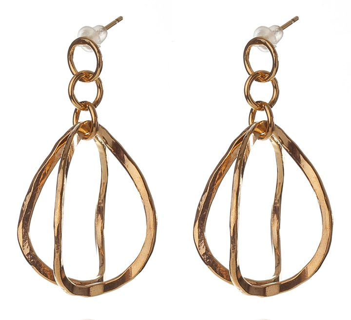 3D drop Bent Earrings - Sara Shahak Jewelry