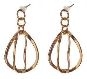 3D drop Bent Earrings