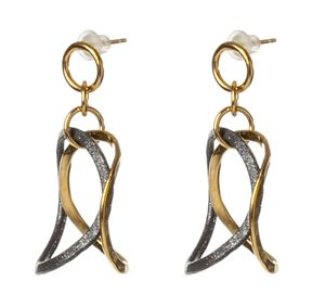 3D Bent Drops Earrings