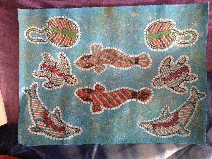 The Four Animals - Koori (aboriginal) art