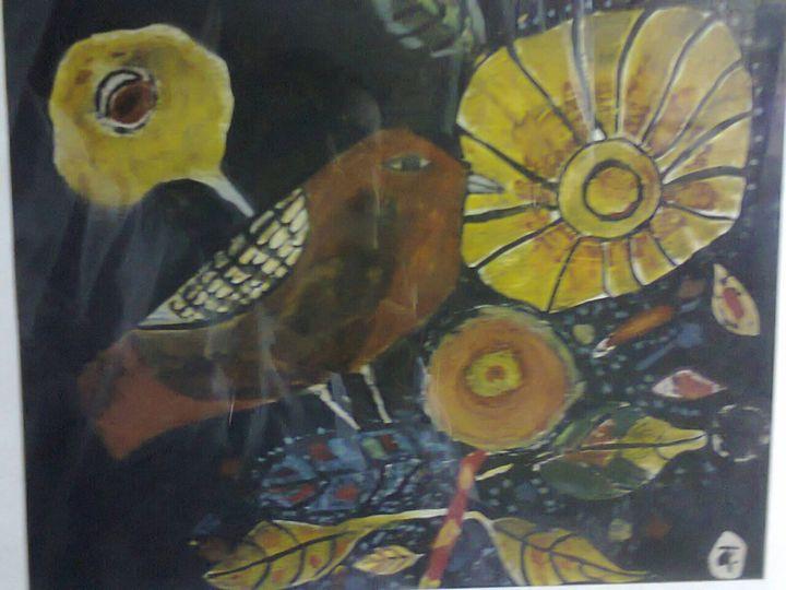 B NARAYAN 1965 W.C. ON PAPER - khodiyar Gallery