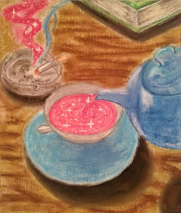 Magic Tea - Ruby Quartz Glasses Art