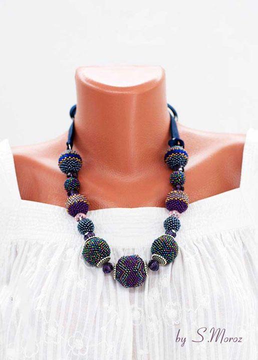 Violet necklace - S.Moroz handmade jewellry