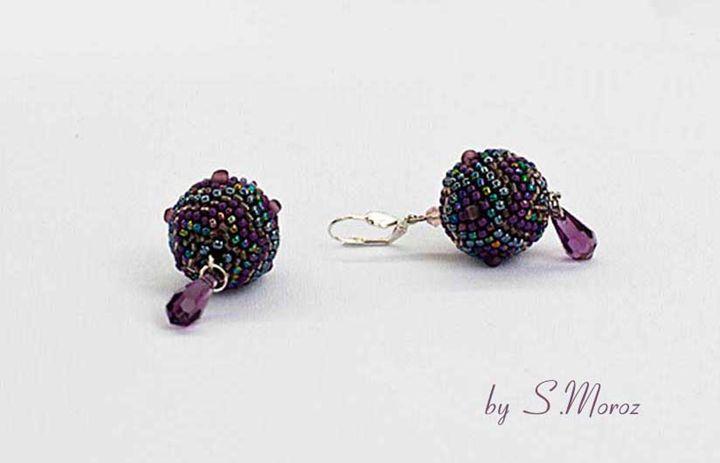 Violet earrings - S.Moroz handmade jewellry