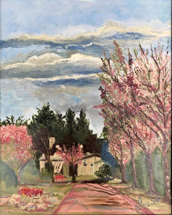 Springtime in Sidney, Vancouver Is. - Art By Ina Marsman