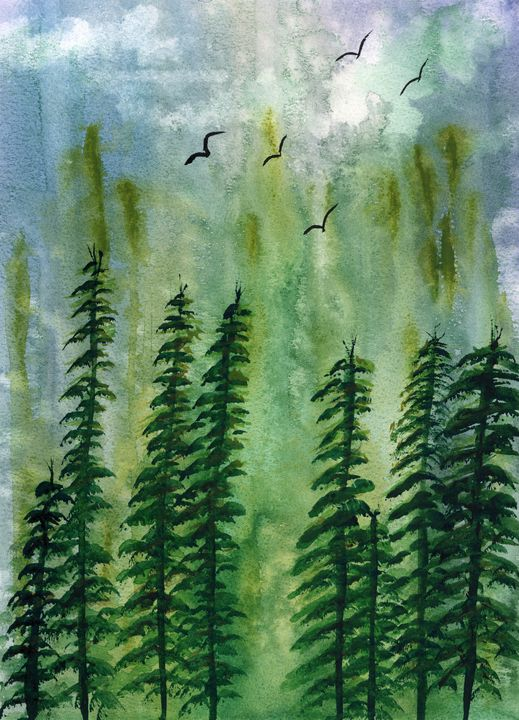 Evergreens - Art By LeClaire Designs