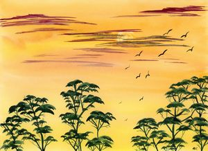 Safari Sunset - Art By LeClaire Designs