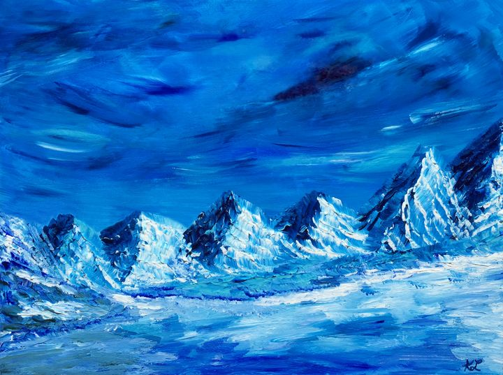 Mountain Glacier - Art By LeClaire Designs