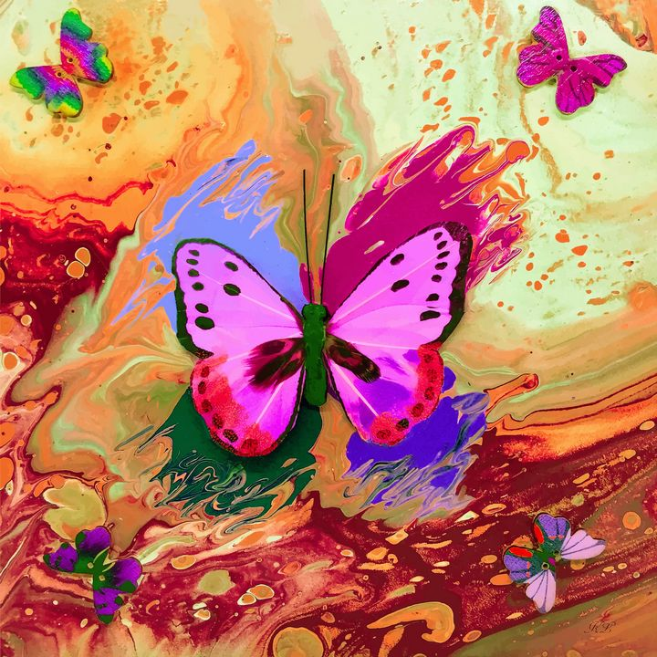 Orange Butterfly - Art By LeClaire Designs
