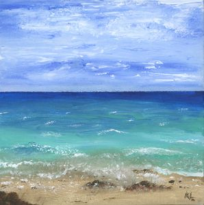 Finger Painting Ocean - Art By LeClaire Designs