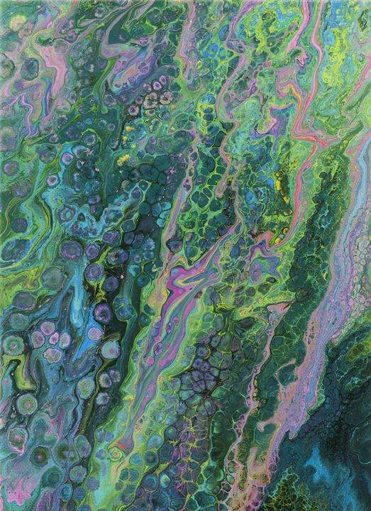 Green Pour Inverted 3 - Art By LeClaire Designs