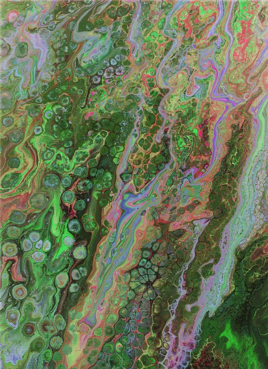 Green Pour Inverted 6 - Art By LeClaire Designs
