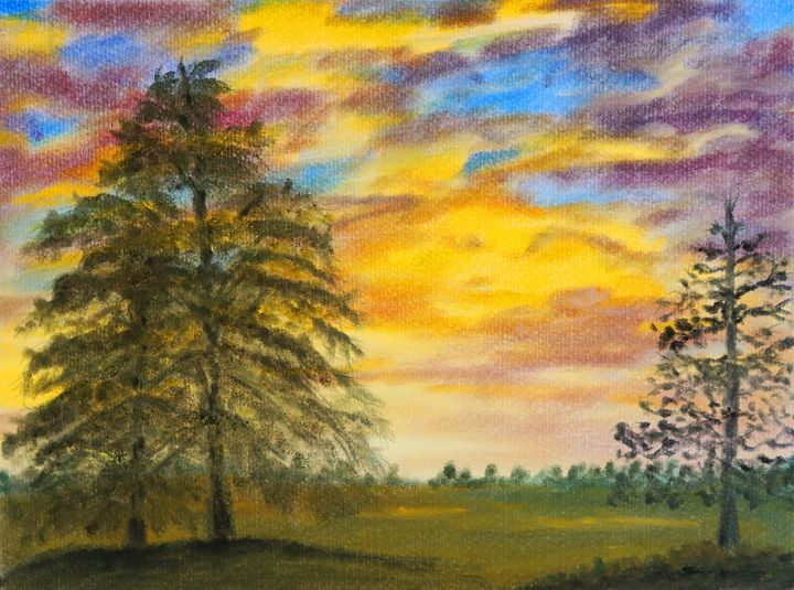 Rainbow Sunset - Art By LeClaire Designs