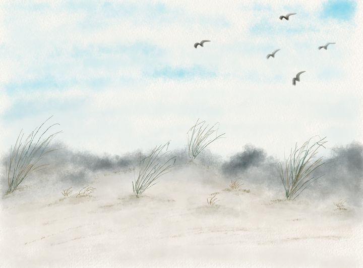 Birds over the Sand Dunes - Art By LeClaire Designs