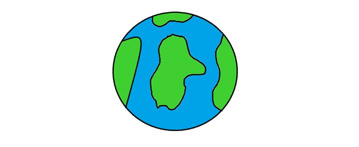 Simple Earth - Abstract & simple art