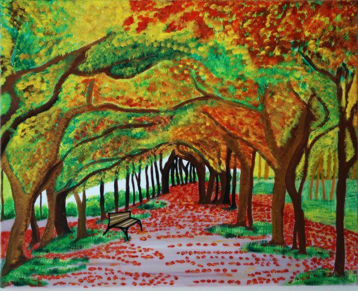 Autumn Path - Original paintings