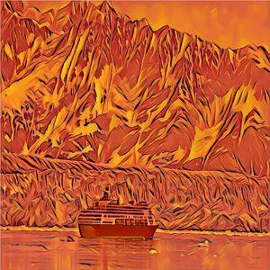 Ship in Orange Silence