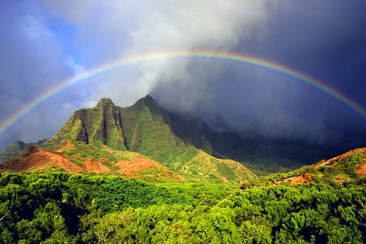 Kalalau Valley Rainbow Kauai - Sky Studio Hawaii