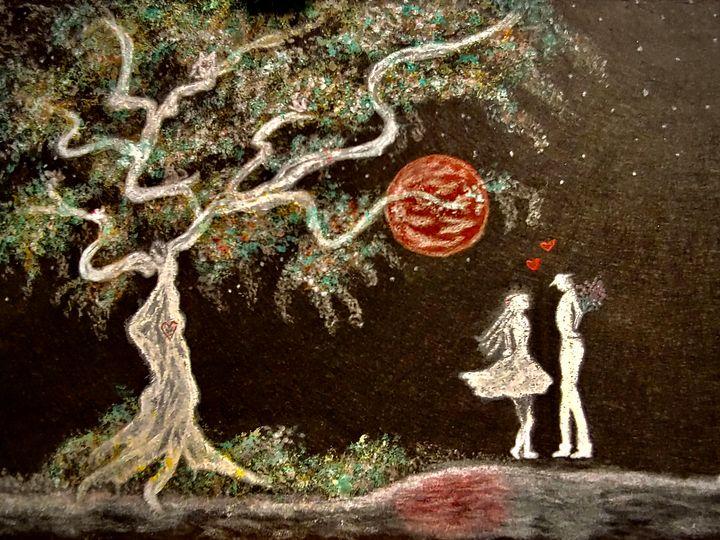 Blood Moon Lovers - Newlight Angel Art