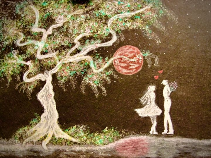 Blood Moon Lovers - Newlight Angel Art