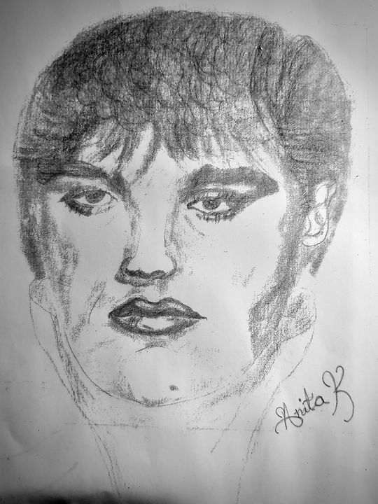 Young Elvis - Newlight Angel Art