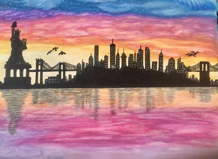 New York, New York - Newlight Angel Art