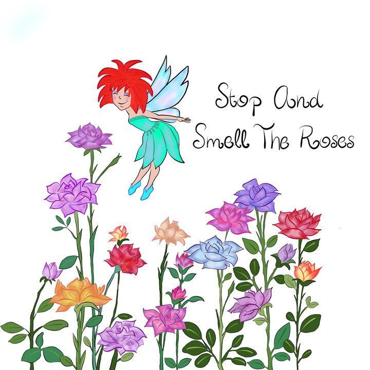Smell the Roses - Lisa G's Digital Art