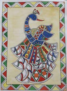 Madhubani art peacock
