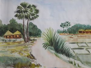 Scenery of a village