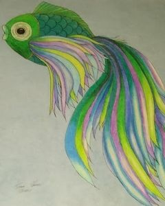 Mardi Gras Colored Fish