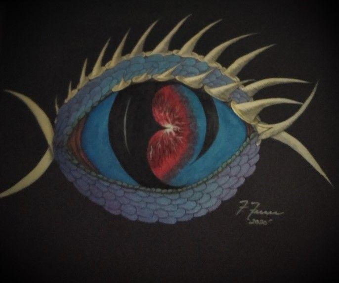 "Eye of the Dragon Watching & Waiting - Fran's Art World ""Through the Eye of Imagination"""