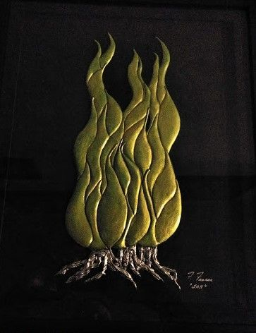 "Van Gogh Style Sculptured Tree - Fran's Art World ""Through the Eye of Imagination"""
