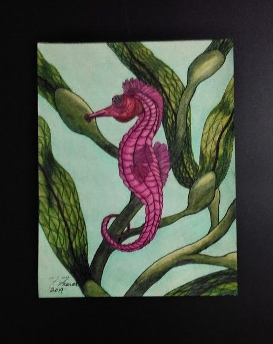 "Sea Horse Painting - Fran's Art World ""Through the Eye of Imagination"""