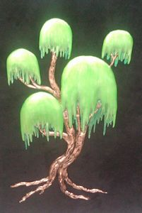 "Topiary Tree Plaster Sculpture - Fran's Art World ""Through the Eye of Imagination"""