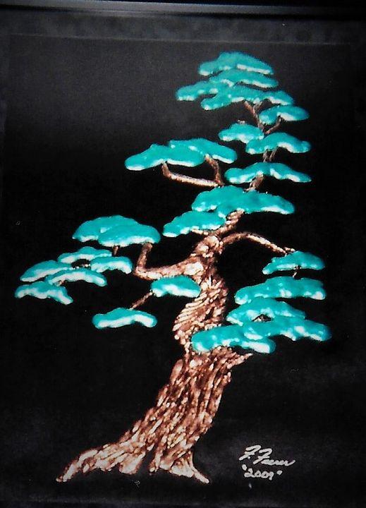 "Cyprus Tree - Plaster Sculptured - Fran's Art World ""Through the Eye of Imagination"""